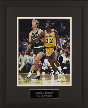 Magic Johnson & Larry Bird Signed Photo